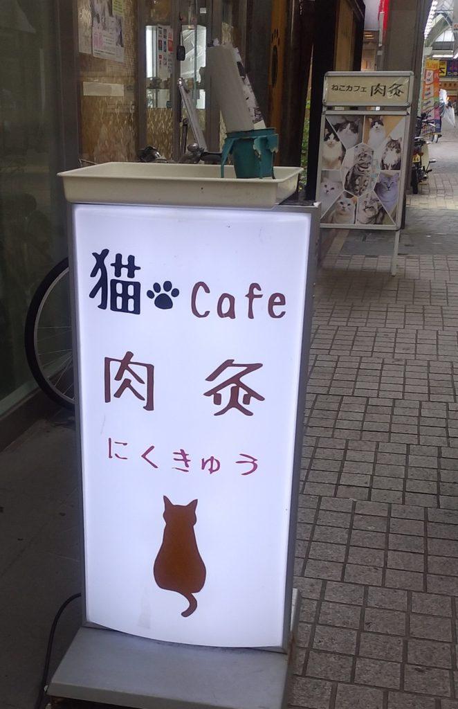 猫カフェ肉灸看板