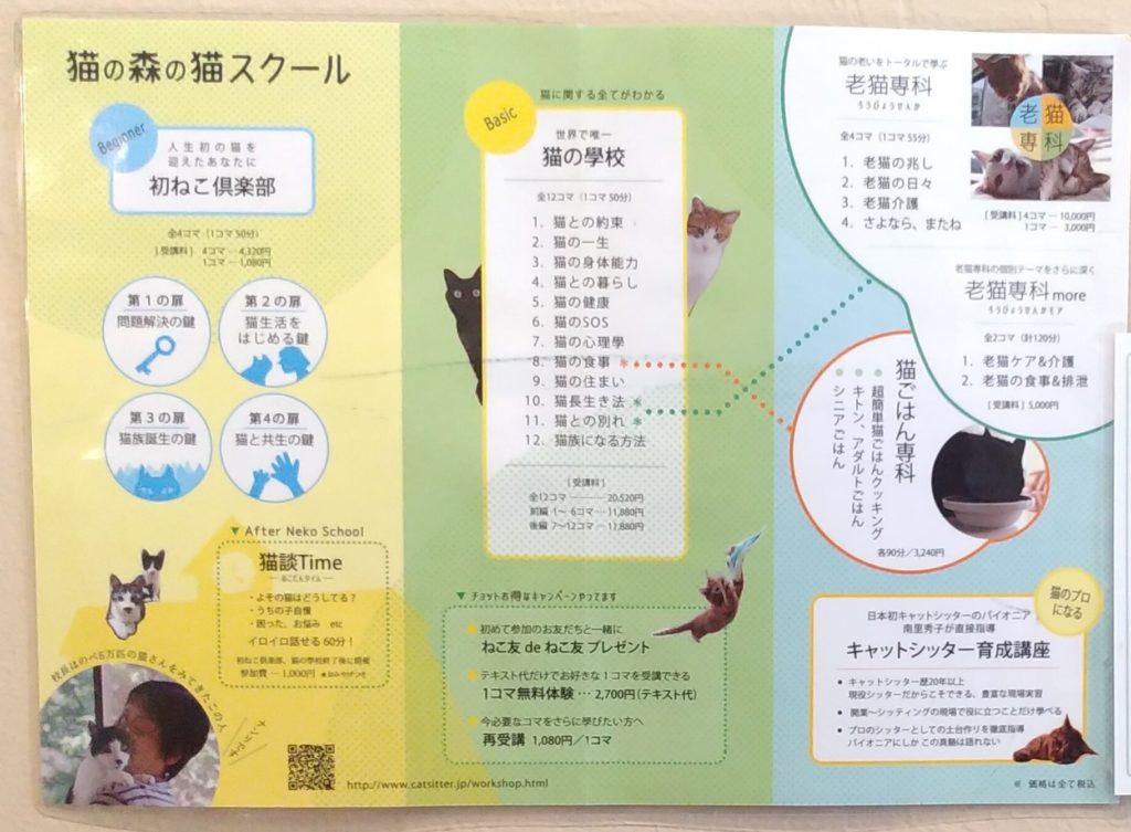 『猫カフェ ねこちゃる』猫の森の猫スクール