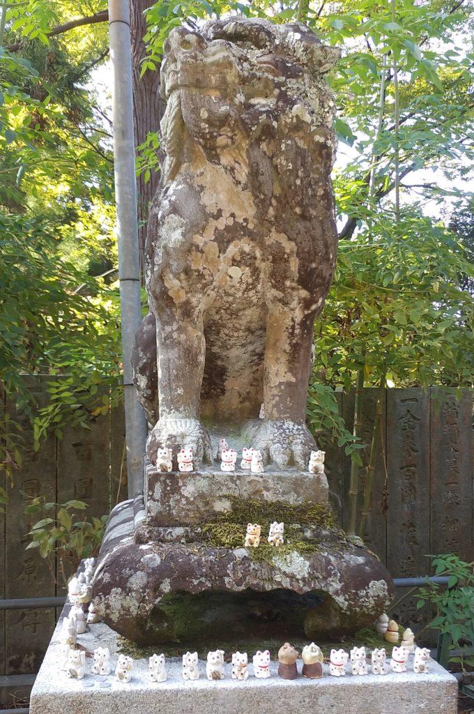 『白峰寺』狛犬と招き猫1