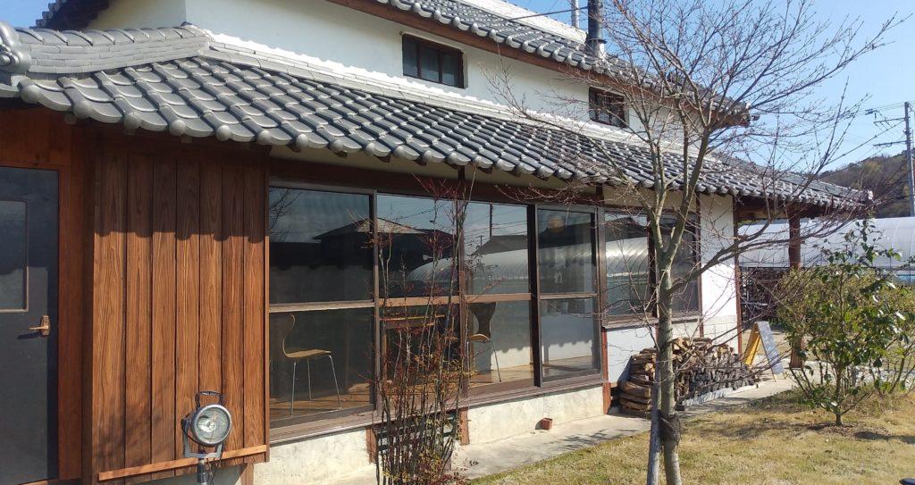 小豆カフェあんこ外観(縁側)