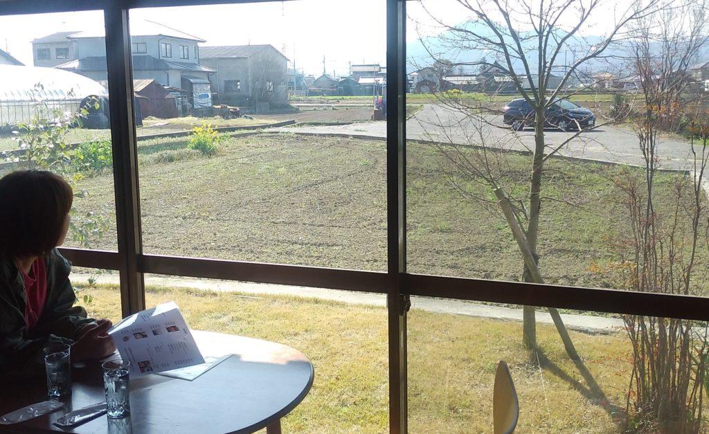 小豆カフェあんこ縁側からの景色