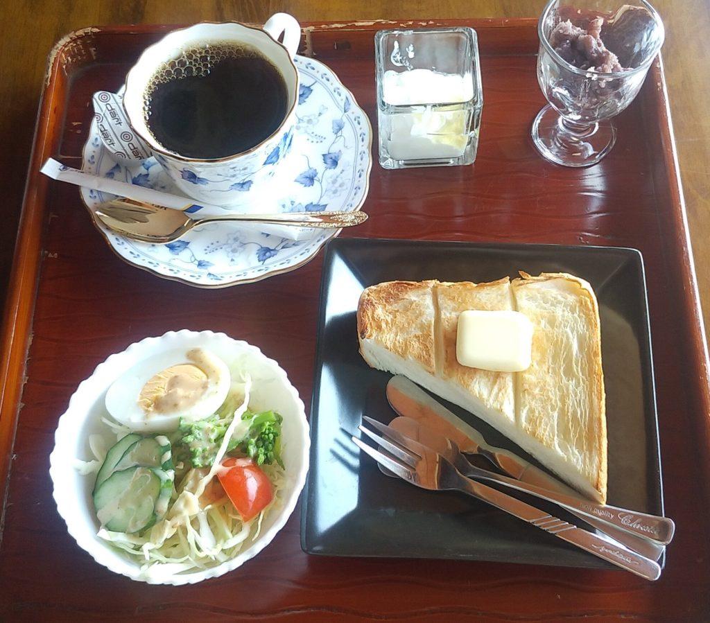 小豆カフェあんこバタートーストセット