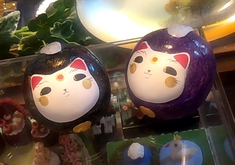 『スイーツカフェ クイール』猫の飾り1